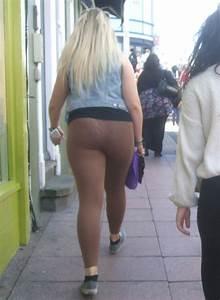 Chubby Blonde Teen u0026 Friend - Brown See Through Leggings
