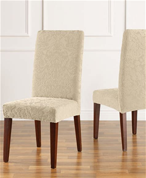 Linen Slipcovers For Dining Chairs Without Arms by Sure Fit Stretch Jacquard Damask Dining Chair