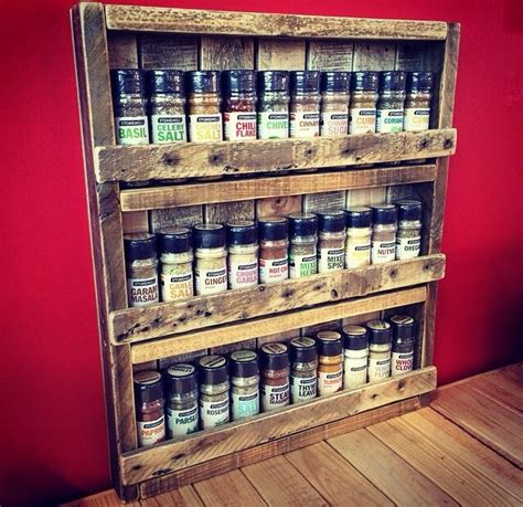 How To Build A Spice Rack Out Of Wood by Pallet Spice Rack To Make Later Spice