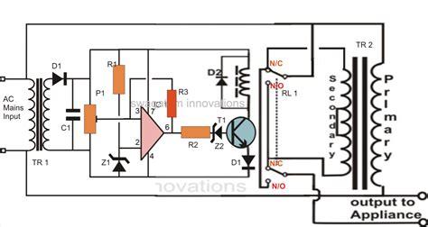 v guard voltage stabilizer circuit diagram wiring simplest mains voltage stabilizer circuit