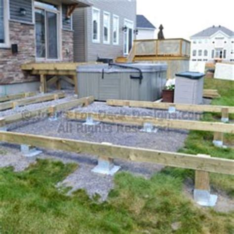 floating deck without footings ground anchors deck footing foundations instead of concrete