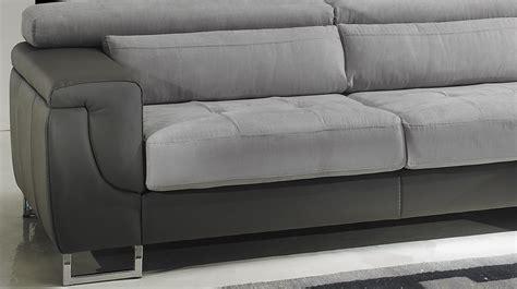 canapé d angle microfibre gris canapé d 39 angle gauche cuir microfibre gris pas cher