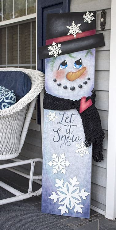 snowman tall porch sign pattern packet patricia rawlinson