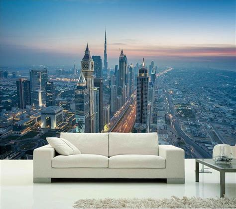 Living Room Wallpaper City by 3d Walpaer Photo Wallpaper Custom Mural Living Room