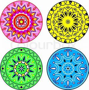 Circular patterns Stock Vector Colourbox