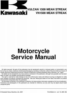 2001 Kawasaki Vn1500 Vulcan Owners Manual