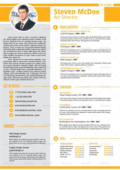 clean modern resume vol 2 by keyongmas graphicriver