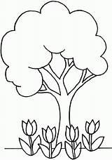 Coloring Tree Simple Way Popular Gmm sketch template