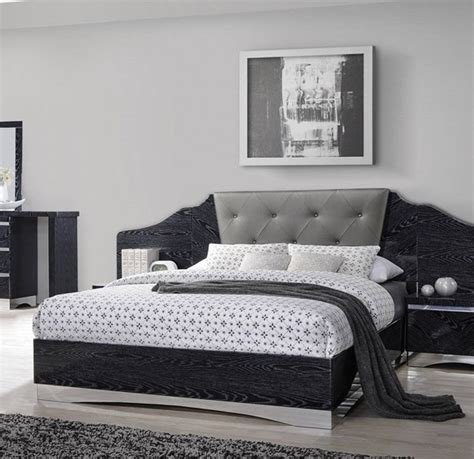 coaster furniture alessandro black queen bed  classy home