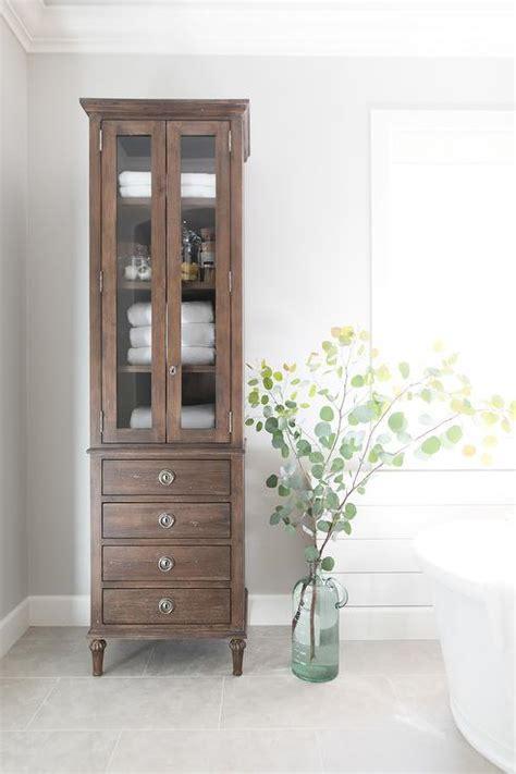 tall bathroom cabinet with doors linen cabinet design ideas
