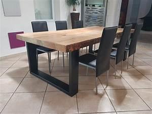 table salle a manger 3 metres cuisine naturelle With table de salle a manger avec pied central pour deco cuisine