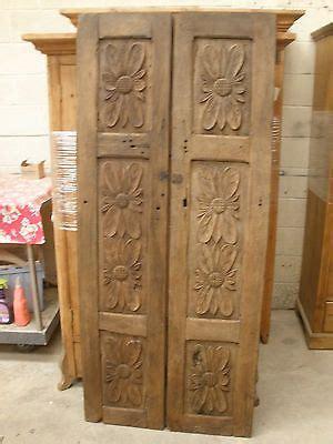 antique mexican carved mesquite doors pair vintage