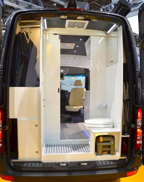 Are you looking for the best campervans with bathrooms? Mercedes Sprinter Camper Van Interior with Bathroom - DECOREDO