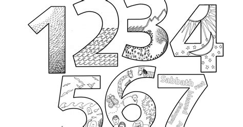 creation numbers coloring bookpdf sunday school