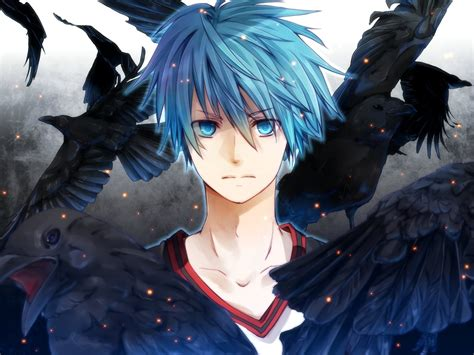 Blue Haired Anime Boy Wallpaper - anime the blue hair ravens wallpaper 1920x1441