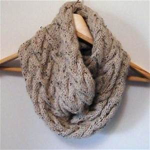 2 Knitting Patterns, Oversized Cowl Infinity Scarf & Cable ...