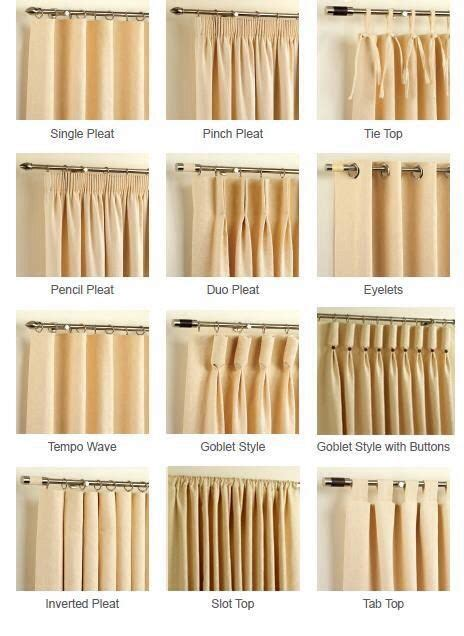 Different Styles Of Drapes - i like the tempo wave although not sure what the
