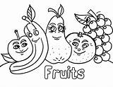 Fruit Coloring Pages Printable Fruits Colouring Worksheet sketch template