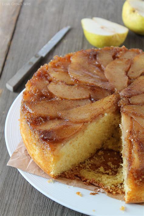 spiced pear upside  cake love grows wild