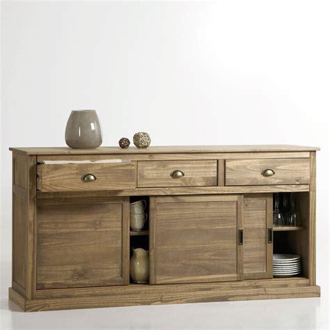meuble cuisine en pin pas cher buffet la redoute buffet portes coulissantes pin massif