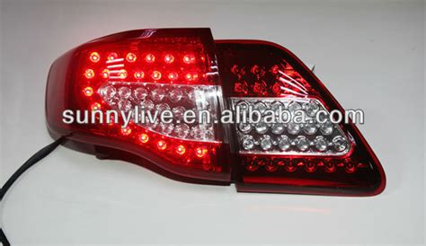 2010 toyota corolla tail light cover corolla altis for toyota led tail l 2008 2010 red white