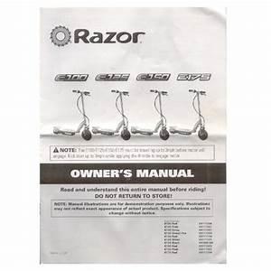 Original 2009 Razor Electric Scooter E100  E125  E150  E175