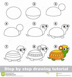 Drawing Turtles Step By Step How To Draw A Cute Cartoon ...