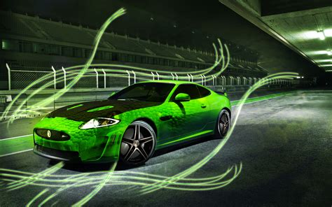 Green Jaguar Sports Car With Python Overlay By Grt101 On