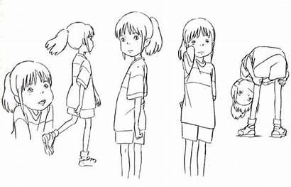 Character Spirited Away Ghibli Studio Sheets Sheet