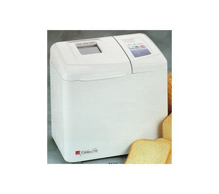 regal kitchen pro collection regal k6743 kitchen pro 2lb breadmaker white430 watts qvc com