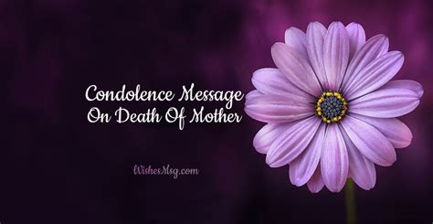 condolence messages  death  mother sympathy quotes wishesmsg
