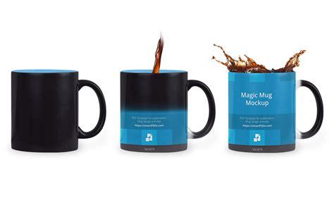 #heck u can do this to a soup mug! Black Magic Coffee Mug Design Mockup (30775) | Mock Ups | Design Bundles