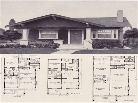 craftsman bungalow style home plans  craftsman