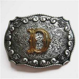 jeansfriend original western cowboy initial letter d belt With letter d belt buckle