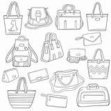 Laptop Clip Outline Bags Illustrations sketch template