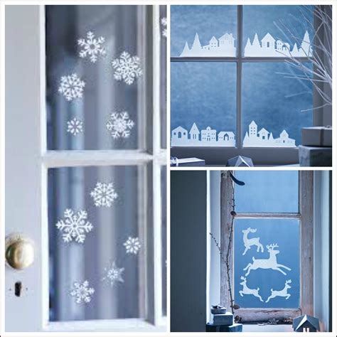 decorate your windows with winter themed seasonal window stickers fresh design