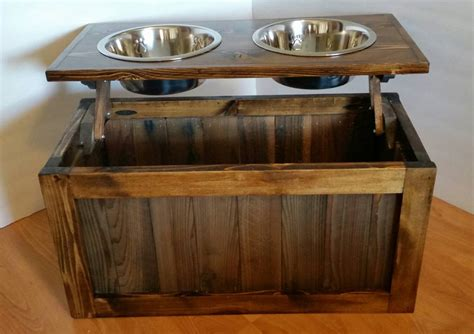 facrac woodworking plans elevated dog feeder