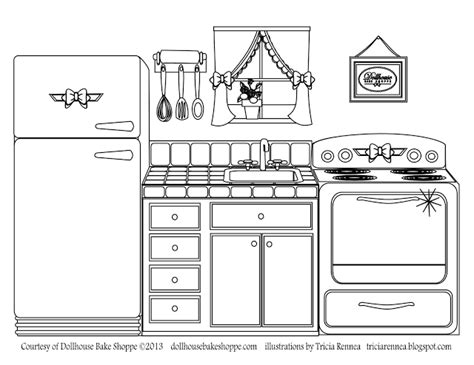 coloring page decorate   kitchen  atlindsay
