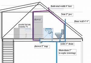 Second Floor Bathroom Plumbing Diagram