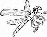 Dragonfly Coloring Insect Pages Cartoon Illustration Cute Line Drawing Funny Realistic Cool Vector Getdrawings Clip Drawings Printable Clipart Clipartmag Character sketch template