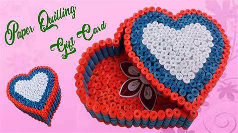 quilling gift box ideas diy heart  valentine