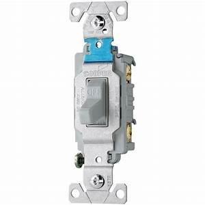 Eaton 20 Amp 120  277-volt Side Wire Compact Toggle Switch  Gray-cs215gy