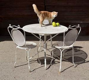 best table de jardin ronde en fer gifi ideas awesome With table ronde avec chaise