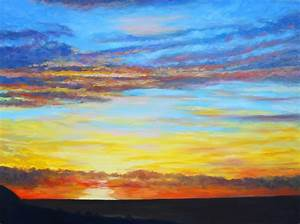 ocean sunrise painting ocean sunset oil painting red ocean ...