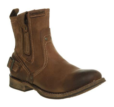 mens biker shoes mens caterpillar vinson biker boot brown whoming leather