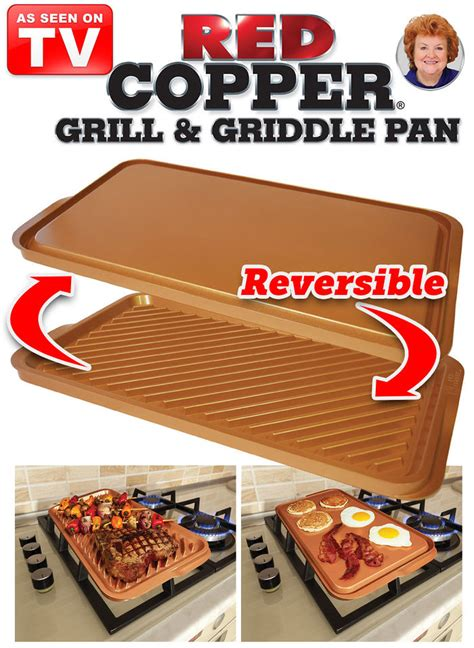 red copper grill griddle pan amerimark  catalog shopping  womens apparel