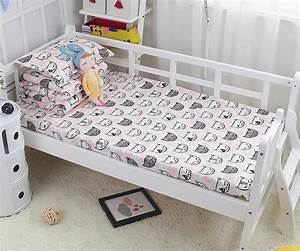 Cotton, Baby, Bed, Linen, Set, Clouds, Printed, Baby, Crib, Sheets