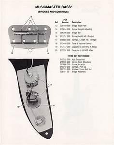 Fender Musicmaster Bass Part List 1976