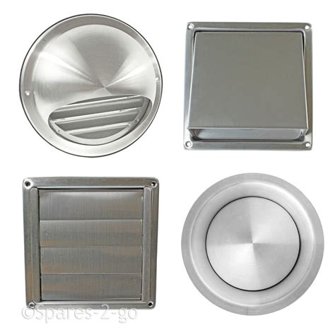 external exhaust fan for bathroom stainless steel wall air vent metal cover outlet exhaust