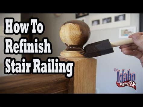 How To Refinish Wood Hand Railing Hacks Staining Stair